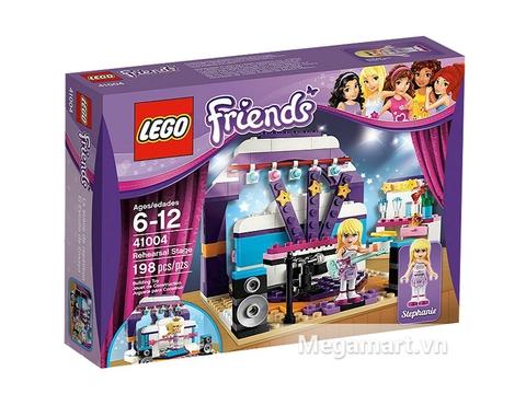 Hình ảnh thực tế vỏ hộp bên ngoài bộ đồ chơi Lego Friends 41104 - Phòng Thay Trang Phục Ngôi Sao