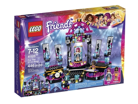 Thông tin chung bộ Lego Friends 41105 - Sân Khấu Biểu Diễn Ngôi Sao