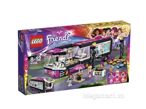 Hình ảnh thực tế sản phẩm Lego Friends 41106 - Xe Buýt Biểu Diễn Ngôi Sao