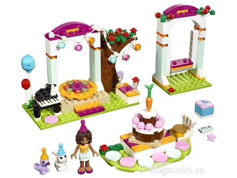 Trọn bộ các chi tiết có trong bộ đồ chơi Lego Friends 41110 - Tiệc sinh nhật thú cưng