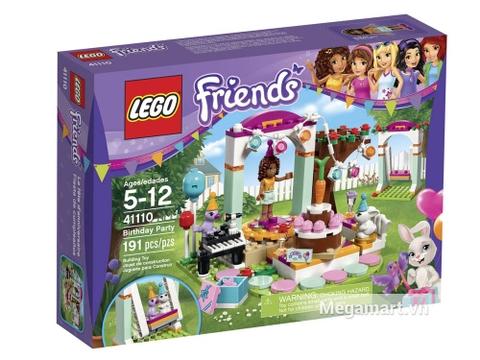 Bộ xếp hình Lego Friends 41110 - Tiệc sinh nhật thú cưng nhìn từ vỏ hộp bên ngoài