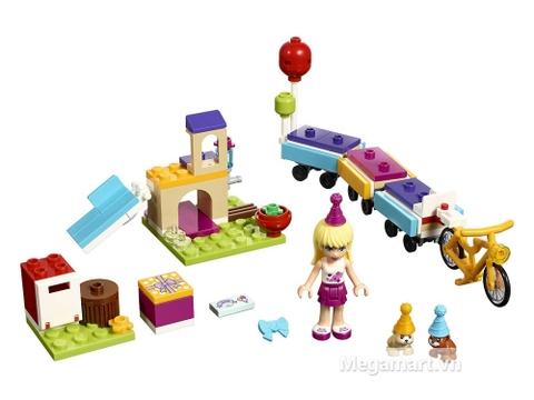 Toàn bộ chi tiết có trong bộ xếp hình Lego Friends 41111 - Bữa tiệc tàu hỏa