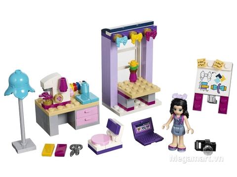 Bộ đồ chơi xếp hình Lego Friends 41115 - Phòng làm việc sáng tạo của Emma gồm 108 miếng ghép được thiết kế an toàn cho các bé