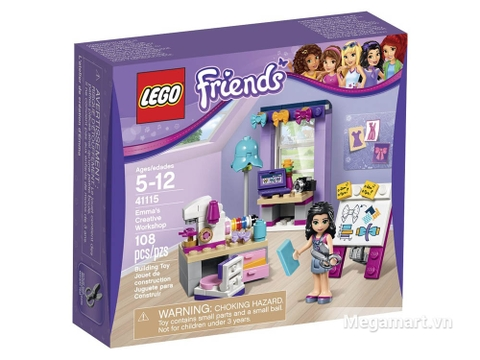 Hình ảnh bên ngoài sản phẩm Lego Friends 41115 - Phòng làm việc sáng tạo của Emma