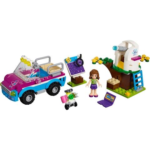 Các chi tiết trong bộ đồ chơi Lego Friends 41116 - Xe Khám Phá Của Olivia