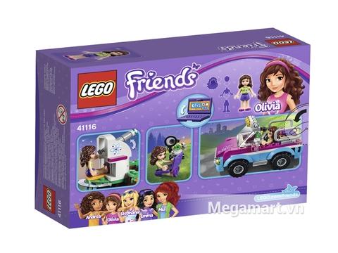 Bộ xếp hình Lego Friends 41116 - Xe Khám Phá Của Olivia thích hợp cho các bé từ 6 đến 12 tuổi