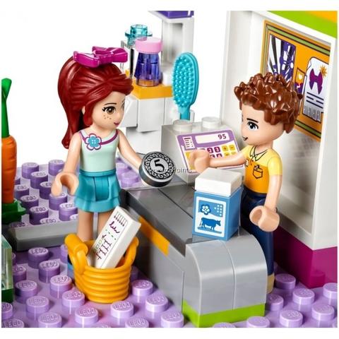 Bộ đồ chơi Lego Friends 41118 - Siêu Thị Mua Sắm Heartlake tái hiện khung cảnh ngày mua sắm thú bị