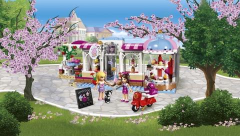 Lego Friends 41119 - Quán Cà Phê Bánh Ngọt Heartlake - quán cà phê vào mùa xuân