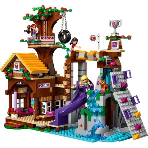 Lego Friends41122- Nhà Cắm Trại Trên Cây - bé vui chơi hồn nhiên