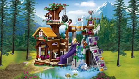 Lego Friends41122- Nhà Cắm Trại Trên Cây - toàn cảnh bộ đồ chơi