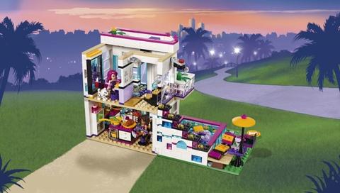 Lego Friends 41135 - Biệt Thự Của Livi - cận cảnh căn hộ
