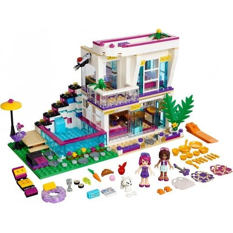 Lego Friends 41135 - Biệt Thự Của Livi - toàn bộ chi tiết trong bộ đồ chơi