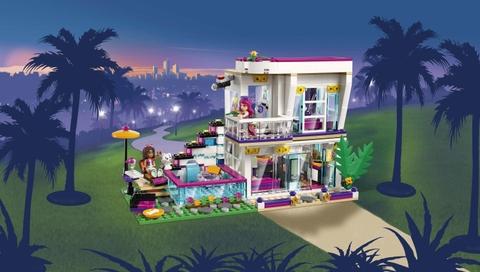 Lego Friends 41135 - Biệt Thự Của Livi - căn biệt thự về đêm