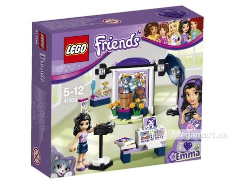 Hình ảnh vỏ hộp bộ Lego Friends 41305 - Phòng chụp hình của Emma