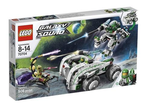 HÌnh ảnh thực tế vỏ hộp đựng sản phẩm Lego Galaxy 70704 - Cuộc Chiến Bọ Chét