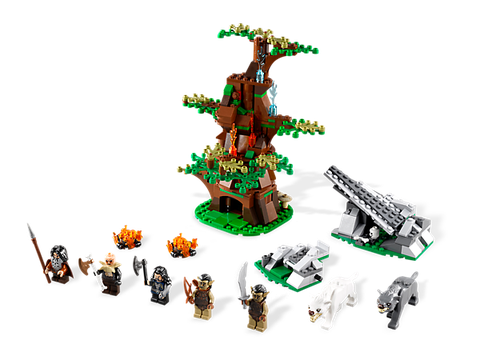 Toàn bộ các chi tiết trong bộ xếp hình Lego Hobbit 79002 - Cuộc tấn công của Wargs