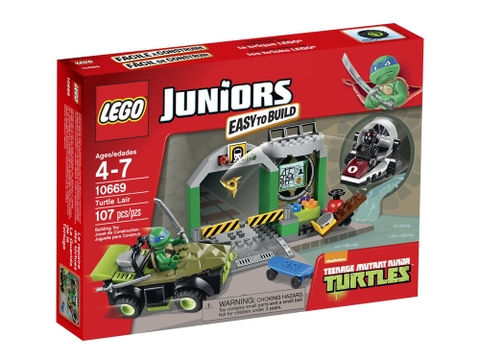 Vỏ hộp Lego Juniors 10669 - Căn Cứ Rùa
