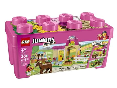 Hình ảnh thực tế bên ngoài sản phẩm Lego Juniors 10674 - Trang Trại Ngựa Con