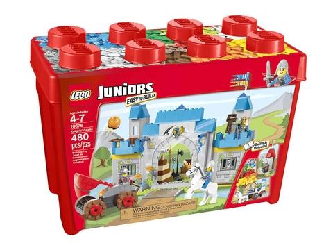 Hình ảnh hộp nhựa màu đỏ bắt mắt của Lego Juniors 10676 - Lâu Đài Hiệp Sĩ