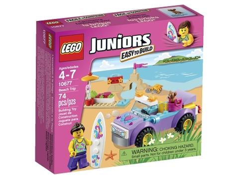 Hình ảnh vỏ hộp bên ngoài sản phẩm Lego Juniors 10677 - Chuyến Du Lịch Bãi Biển