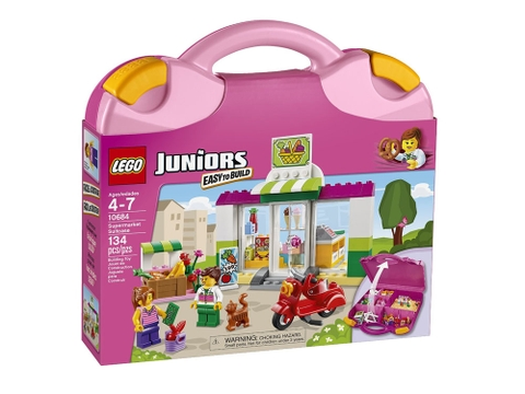 Hình ảnh vỏ hộp bộ Lego Juniors 10684 - Vali Siêu Thị