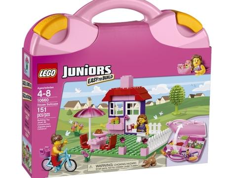 Hình ảnh bên ngoài bộ Lego Junior 10660 - Vali Lắp Ráp Hồng
