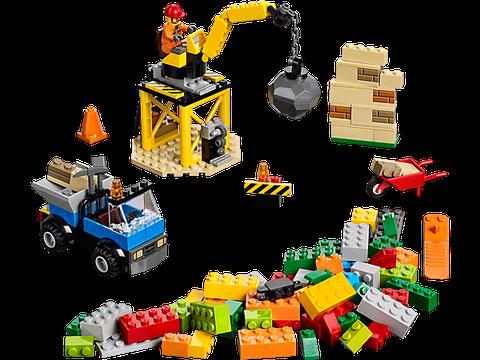 Toàn bộ chi tiết có trong bộ xếp hình Lego Juniors 10667 - Công trình xây dựng