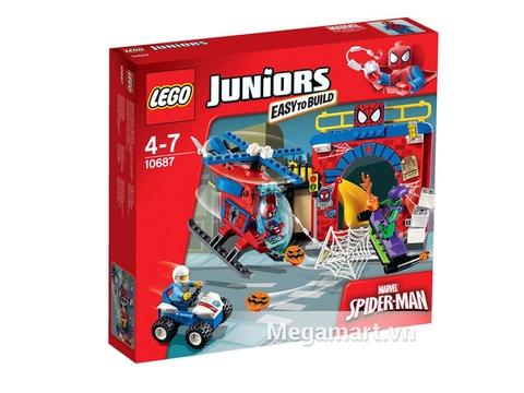 Hình ảnh hộp đựng sản phẩm Lego Juniors 10687 - Căn cứ của người nhện