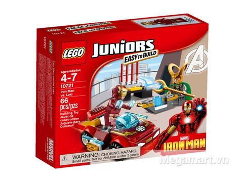 Hình ảnh vỏ hộp bộ Lego Juniors 10721 - Người Sắt Đối Đầu Loki