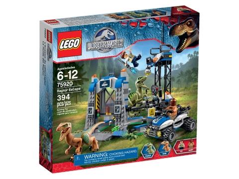 Hình ảnh vỏ hộp sản phẩm Lego Jurassic World 75920 - Khủng Long Raptor Trốn Thoát