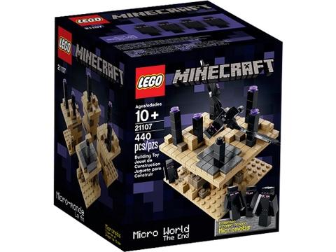 Vỏ hộp đựng hình vuông gọn gàng của bộ xếp hình Lego Minecraft 21107 - Thế Giới Minecraft