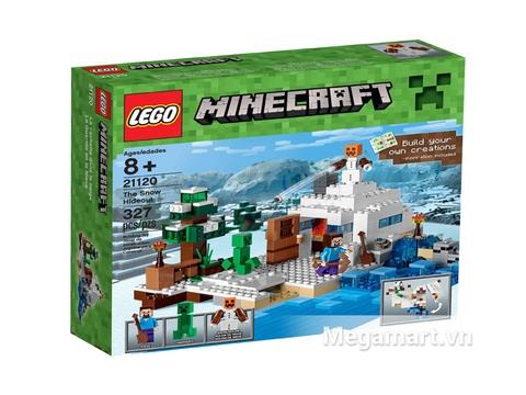 Hình ảnh vỏ hộp sản phẩm Lego Minecraft 21120 - Căn cứ băng giá