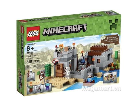 Hình ảnh bên ngoài vỏ hộp Lego Minecraft 21121 - Ốc Đảo Sa Mạc
