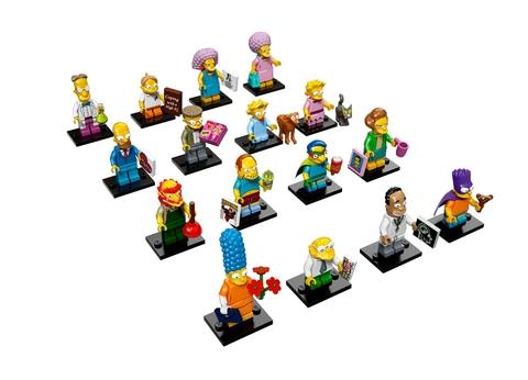 Mô hình các nhân vật đa ngành nghề trong bộ đồ chơi Lego Minifigures 71009 - Nhân Vật Lego The Simpsons