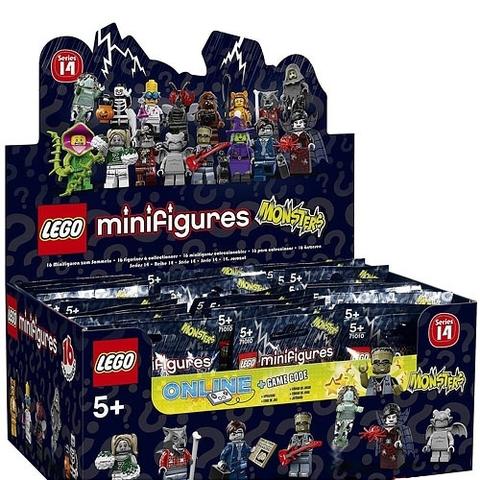 Hình ảnh vỏ ngoài hộp đựng Lego Minifigures 71010 - Nhân Vật Lego số 14 Quái Vật