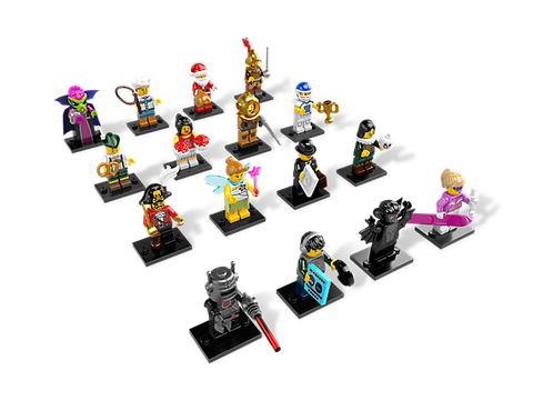 Bộ xếp hình Lego Minifigures 8833 - Nhân vật Lego số 8 với những miếng ghép độc đáo