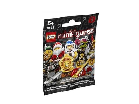 Bộ sản phẩm Lego Minifigures 8833 - Nhân vật Lego số 8