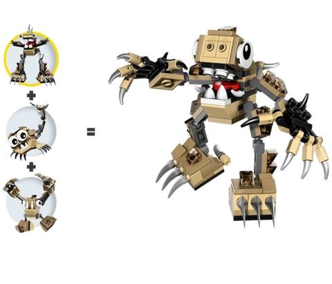Lego Mixels 41523 - Sinh Vật Hoogi - mô hình hoàn chỉnh cùng các mô hình kết hợp