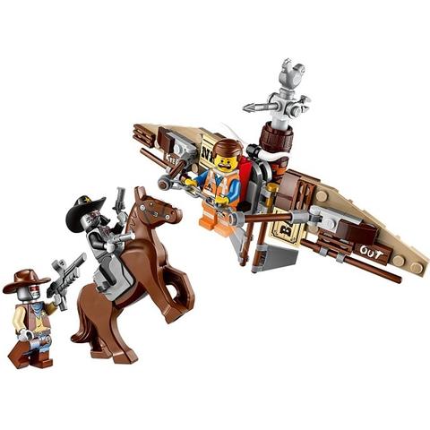 Trọn bộ các mô hình sau khi bé hoàn thành lắp ráp bộ đồ chơi Lego Movie 70800 - Tàu Lượn Tẩu Thoát