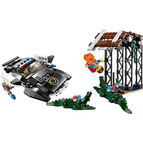 Trọn bộ các chi tiết có trong mô hình Lego Movie 70802 - Xe Cảnh Sát Xấu Xa