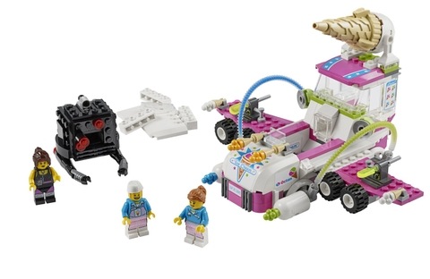 Trọn bộ các chi tiết có trong bộ xếp hình Lego Movie 70804 - Máy Chế Tạo Kem