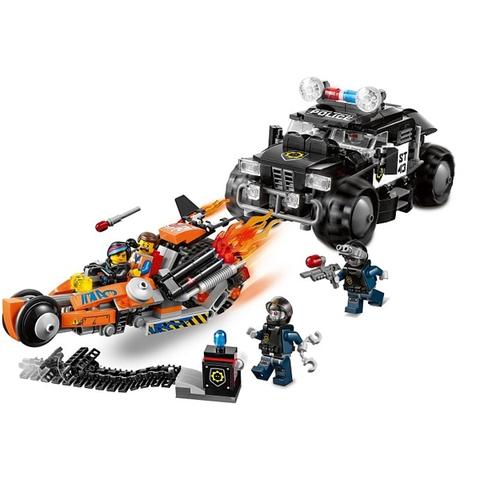 Trọn bộ mô hình sinh động sau khi bé hoàn thành lắp ráp bộ đồ chơi Lego Movie 70808 - Rượt Đuổi Nghẹt Thở