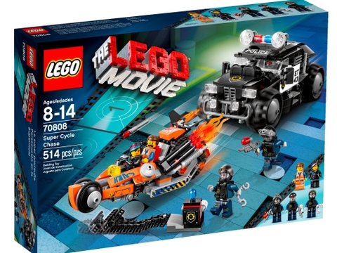 Hình ảnh hộp đựng thiết kế bắt mắt của Lego Movie 70808 - Rượt Đuổi Nghẹt Thở