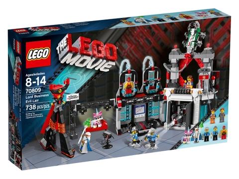 Hình ảnh vỏ hộp đựng sản phẩm Lego Movie 70809 - Sào Huyệt Lãnh Chúa Độc Ác