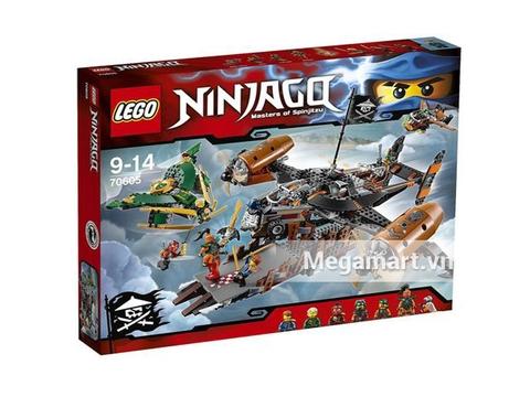 Hình ảnh vỏ hộp bên ngoài Lego Ninjago 70605 - Tàu Bay Tai Họa
