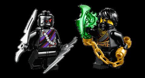 2 nhân vật có trong bộ Lego Ninjago 70720 - Cỗ Máy Lưỡi Cưa