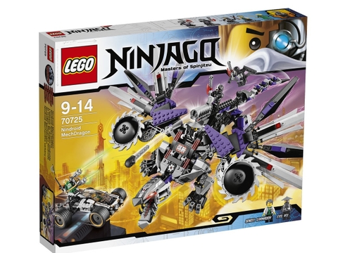 Vỏ hộp Lego Ninjago 70725 - Rồng Máy Nindroid