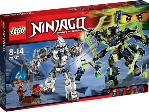Vỏ hộp Lego Ninjago 70737 - Cuộc chiến của những tên khổng lồ Mech