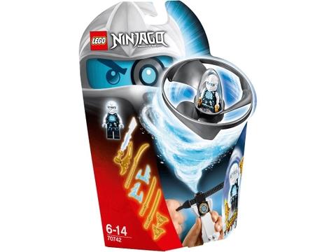 Hình ảnh vỏ hộp bộ Lego Ninjago 70742 - Lốc Xoáy Trên Không của Zane