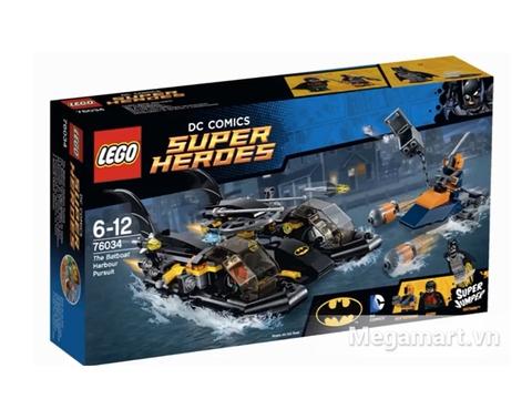 Vỏ hộp sản phẩm Lego Super Heroes 76034 - Truy Đuổi Tàu Dơi